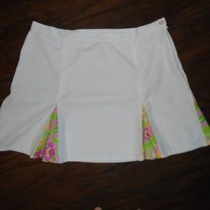 LILLY PULITZER WHITE PLEATED SKIRT ~ 8 ~ TENNIS ~